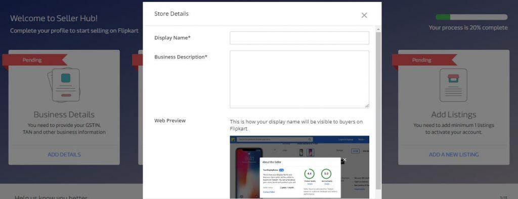 Flipkart Seller Registration Step 8