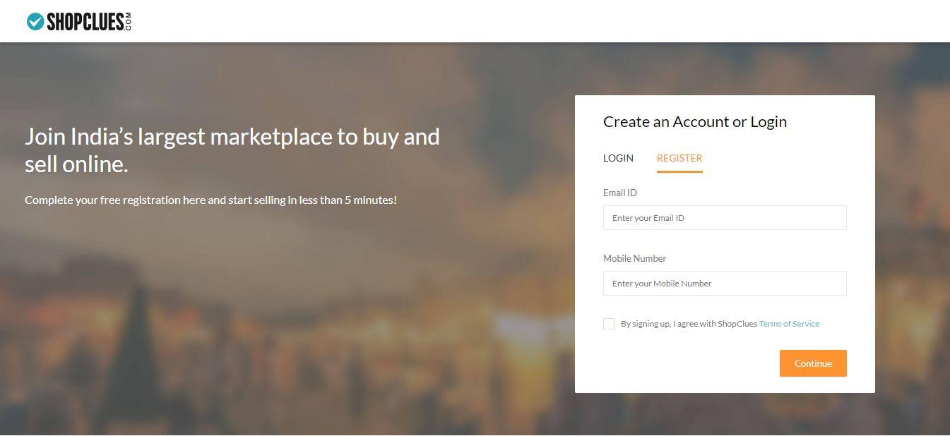 Shopclues-Seller-Registration Step-1