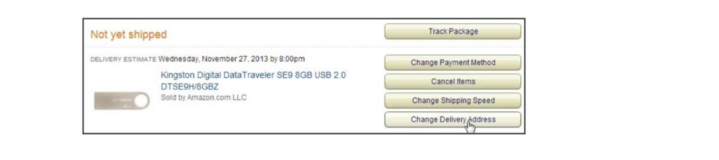 how to change the delivery address in amazon