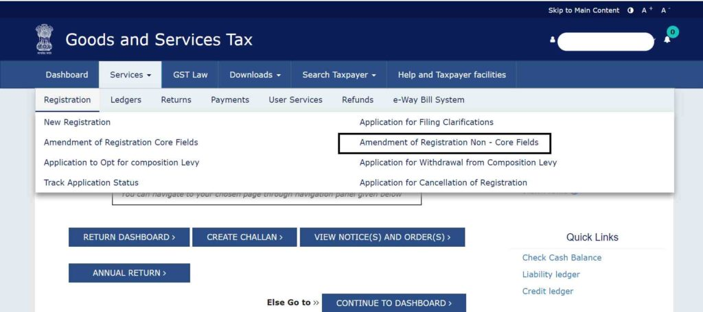 how to change mobile no in gst authorised signatory