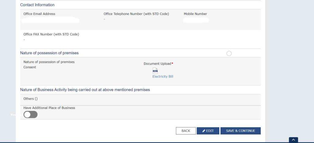 Step-4 GST Registration Amendment